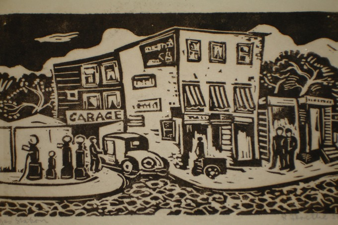 Gas Station  Silkscreen 1928