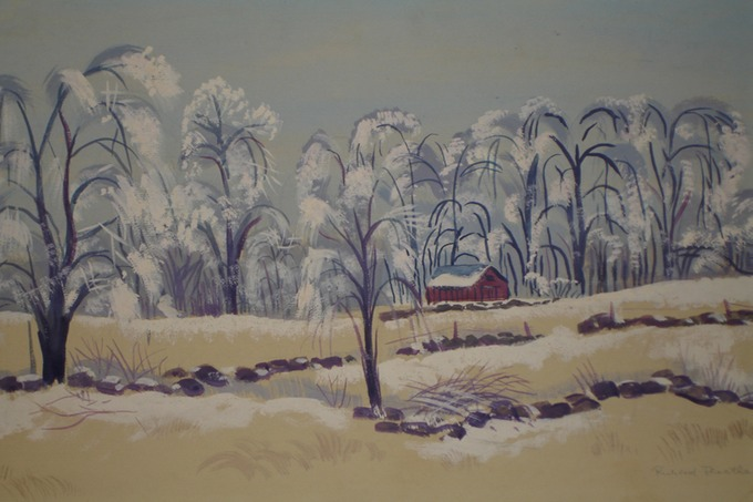 NY First Snowfall (Watercolor) 1939