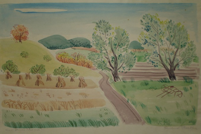 NY Near Pine Island (Watercolor) 1930-40's