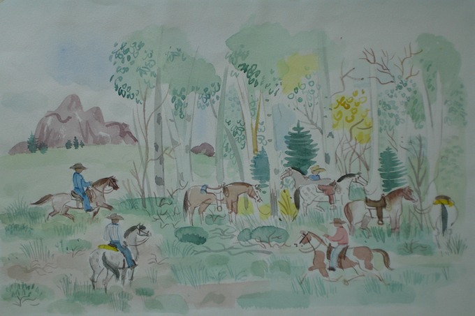 Saddle-Up (Watercolor) 1957-59