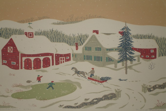Sleigh Ride (Silkscreen) 1945