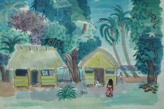 Tahiti 7 (Watercolor) 1963